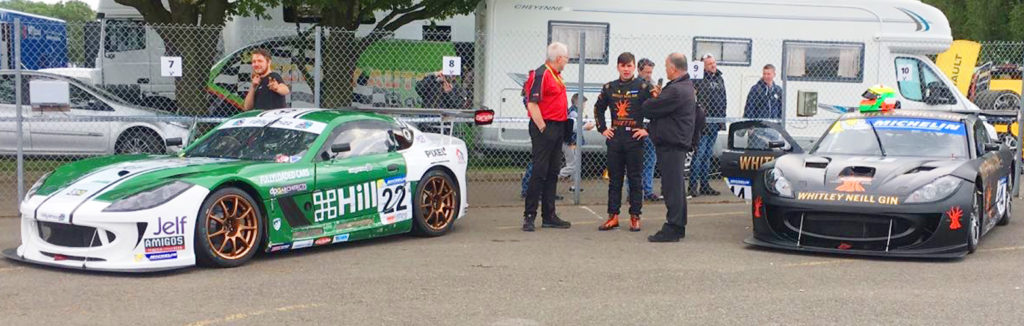 Ginetta GT4 Supercup Oulton Green and Declan Ginettas after rebuild